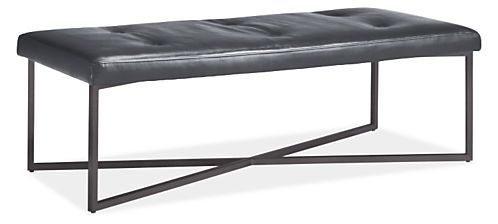 Sidney Leather Ottoman - Ottomans - Living - Room & Board