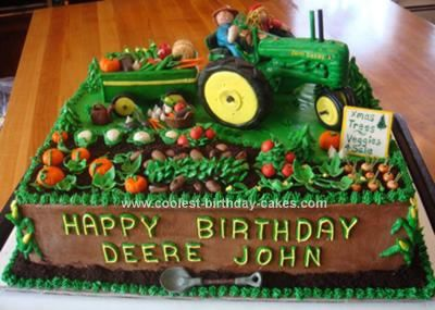 Coolest John Deere Tractor Cake Homemade Toys And Birthdays