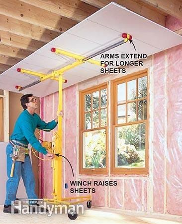 Make hanging drywall almost easy with a drywall lift.