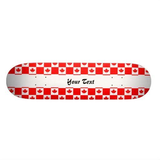 Canadian flag pattern skate deck