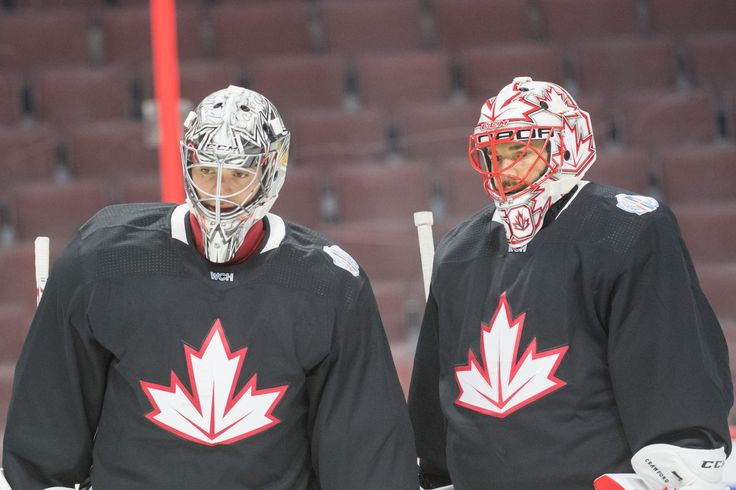Carey Price and Corey Crawford, Team Canada practice, 2016 World Cup