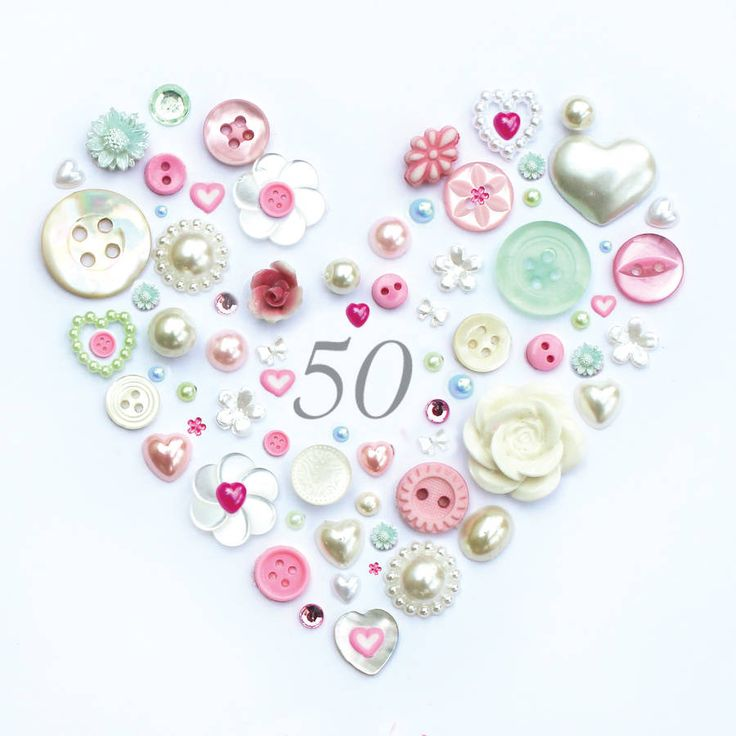 Personalised 50th Birthday Button Artwork