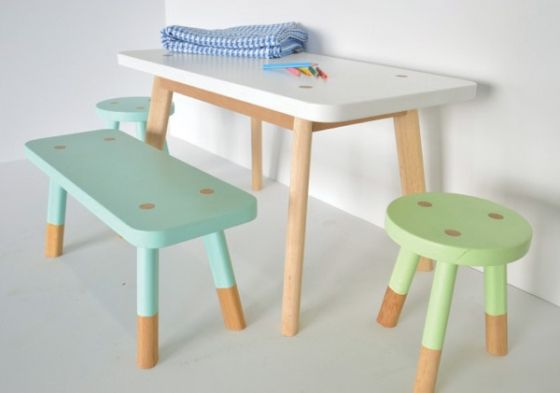Upcycled Childrens Table and Chairs Idea