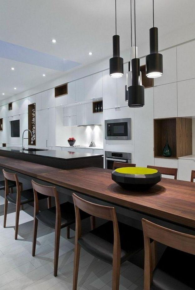 Bildergebnis Für Große Küche Langer Esstisch