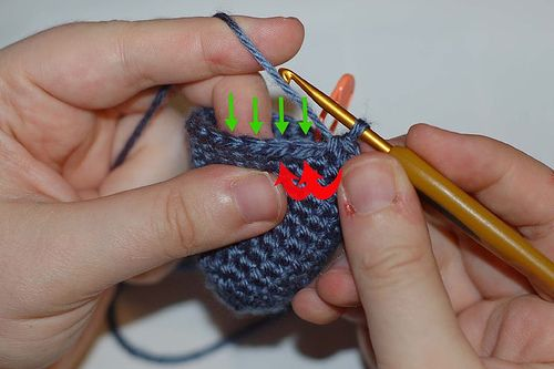 Crochet Stitch Invisible Decrease : Invisible Decrease