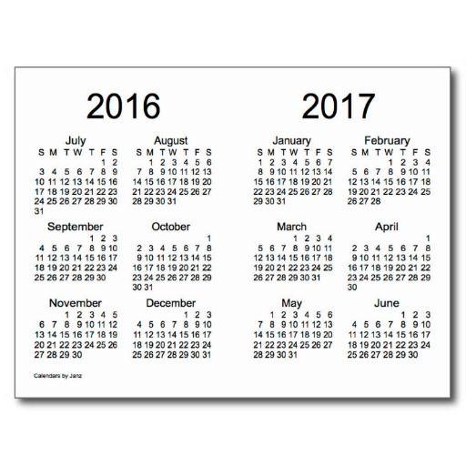 Mini Year Calendar : School year mini calendar by janz postcards