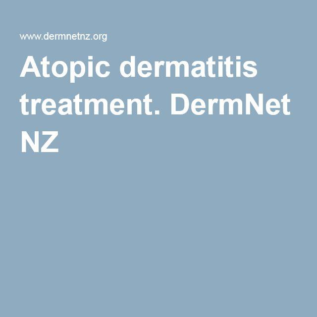 Atopic dermatitis treatment. DermNet NZ