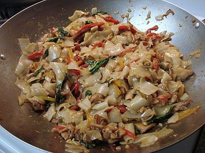 """Great recipe for Pad Kee Mao Gai or better know as """"Drunkin Tai Noodles"""""""