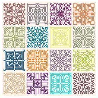 Freebie: Geometric Motif Cross stitch patterns free chart needlework embroidery pattern and chart