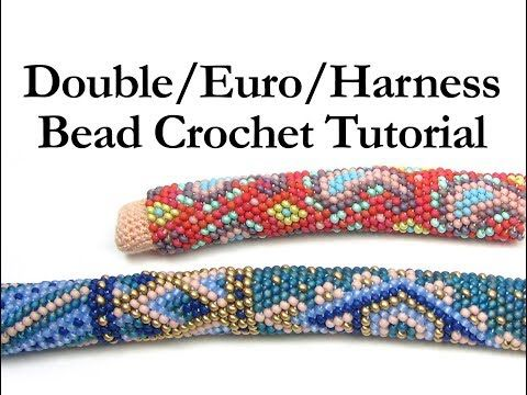 Double Euro Harness Bead Crochet Ann Benson - YouTube