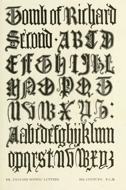 Old English Book Cover Font : Th century gothic from the public domain ebook quot letters