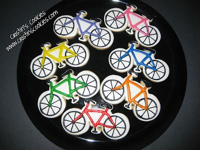 Cristin's Cookies: Bicycle Cookies from Two Different Bicycle Cookie Cutters