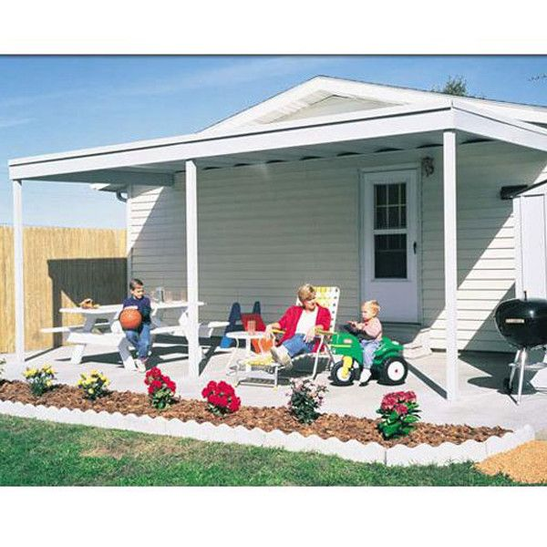 attached patio cover/carport hot dipped galvanized steel