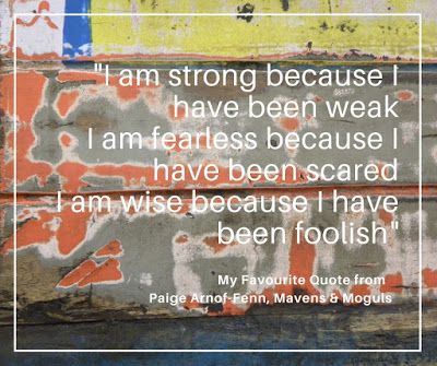 """I am strong because I have been weak I am fearless because I have been scared I am wise because I have been foolish"" #Quote #Inspiration #WiseWords"
