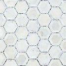 Telaio Hexagon 12 Inch x 12 Inch marble mesh mounted mosaic tile (11 SqFeet/ Case)
