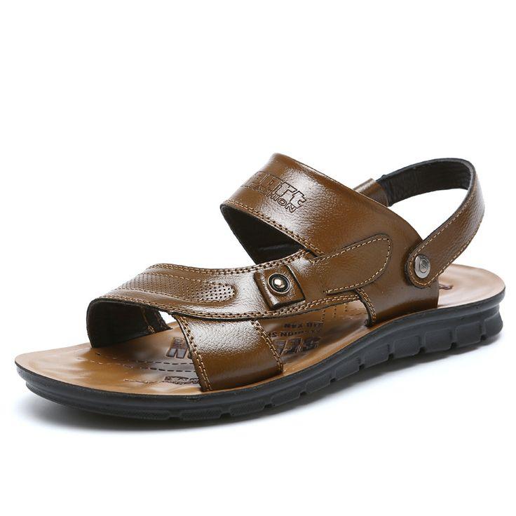 >> Click to Buy << Top quality sandal 2017 men sandals summer genuine leather sandals men outdoor shoes men leather sandals plus big size #Affiliate