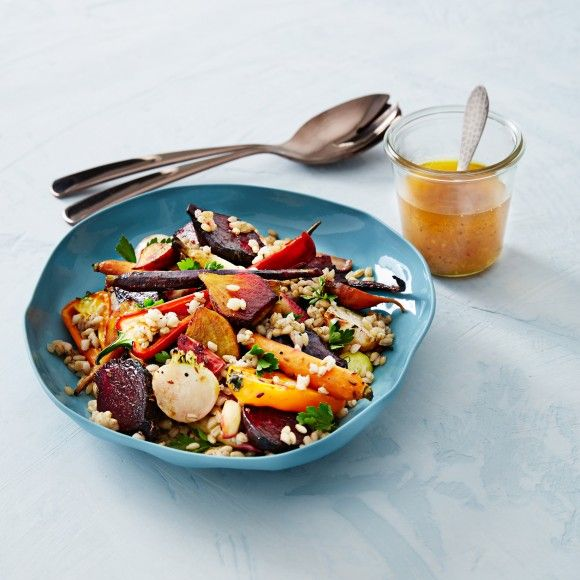 Warm+Coconut+Roasted+Vegetables+and+Barley+Salad