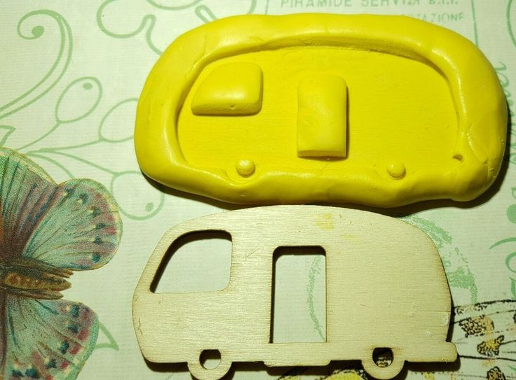RV VEHICLE, VAN Silicone Mold for polymer clay, resin, wax, fondant, etc.