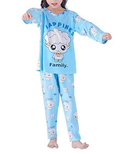 3422e230ef MyFav Girls  Round Neck Casual Loungewear Set Cute Sheep Letters Prnted  Pajamas