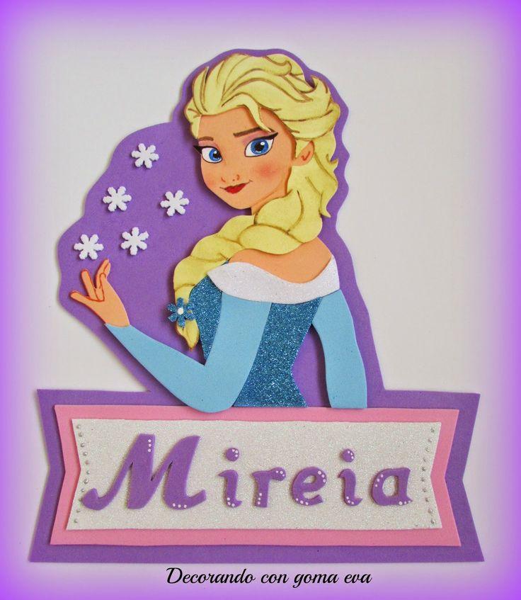 Cartel de Elsa de Frozen en tonos lila   Aprender manualidades es facilisimo.com