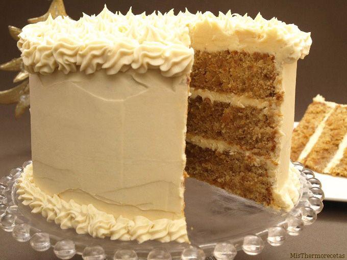 Layer cake de turrón de Jijona - MisThermorecetas.com
