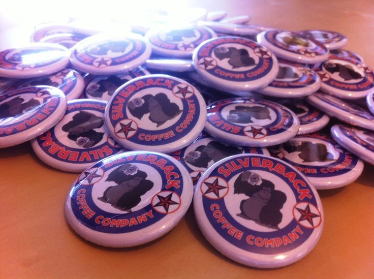 Silverback Coffee Co button badges #coffee