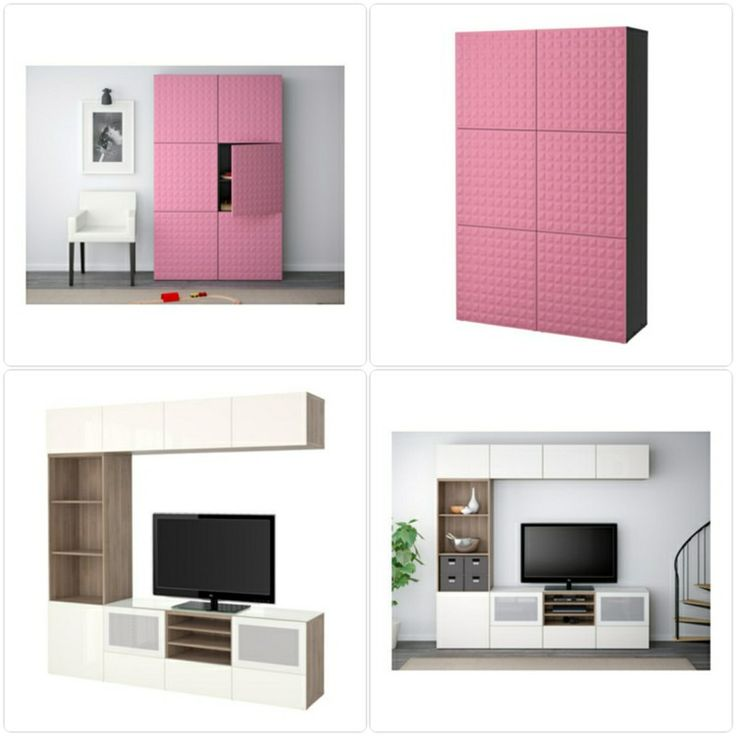 Marvelous IKEA Besta Cabinet pink furniture