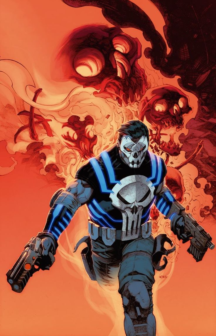 The Punisher #1 Apocalypse Wars variant cover by Chris Stevens *