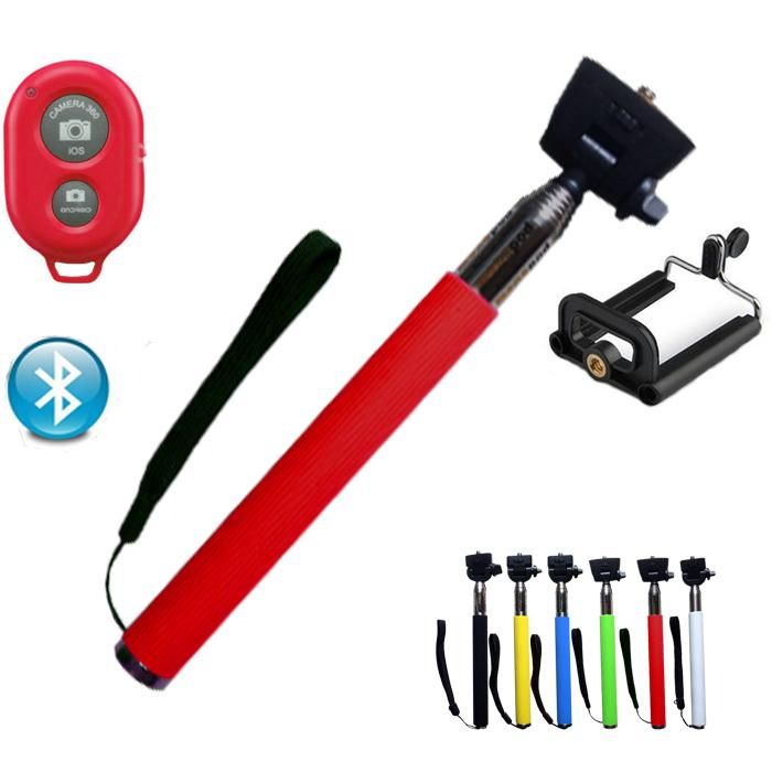 Ausziehbare Hand Bluetooth Handy Kamera Stativ Einbeinstativ Halter Selbst Selfie Stock Für Iphone