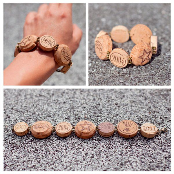 Занятие ремеслом с пробкой браслет браслет раунде