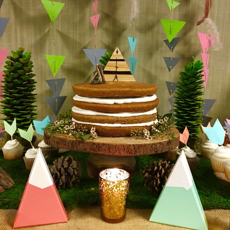 Wood Teepee: Is From Mountain Haus Studio. Gender Revealing Baby Shower.  Forest