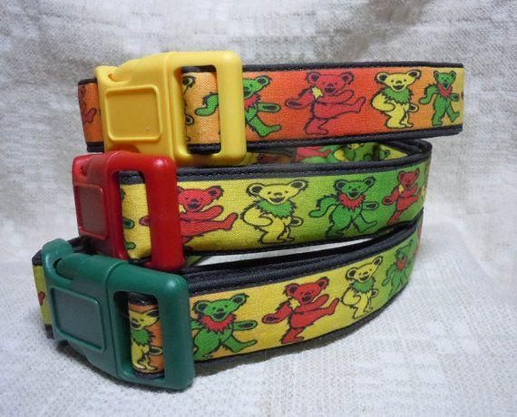 Grateful Dead Dog Collar / Rasta Dog Collar / Grateful Dead Gift / Unique Dog Collar / Cool Dog Collar / Cute Dog Collar / Hippie Dog