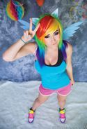 Long Rainbow Wig - Designed By Yaya Han - COSPLAY IS BAEEE!!! Tap the pin now to grab yourself some BAE Cosplay leggings and shirts! From super hero fitness leggings, super hero fitness shirts, and so much more that wil make you say YASSS!!!