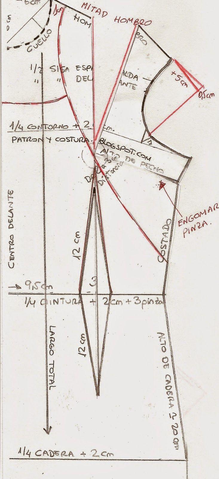 Hacemos el patrón del vestido entallado | Aprender manualidades es facilisimo.com