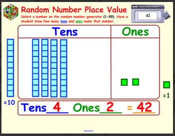 Random Number Place Value helps students recognize the value of numbers in a way that's unpredictable and fun. Students will be engaged in this a...