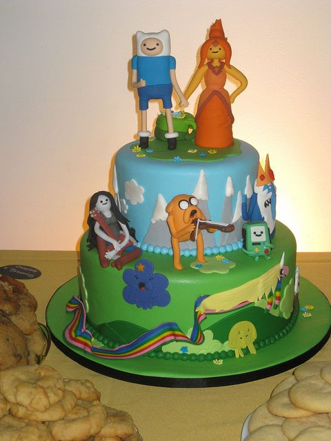 The fun will never end with this Adventure Time wedding cake | Offbeat Bride