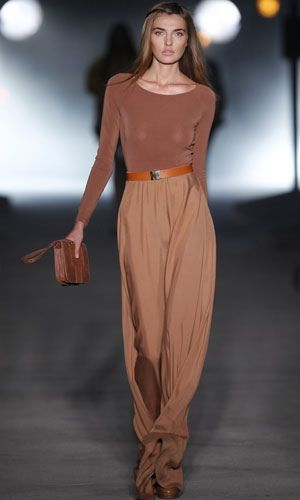 Simple Fall neutrals. Body suit and flowing pants with a touch of whimsy.