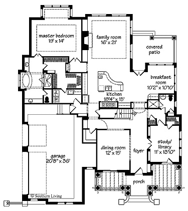 Floor Plan With Laundry By Master Closet.