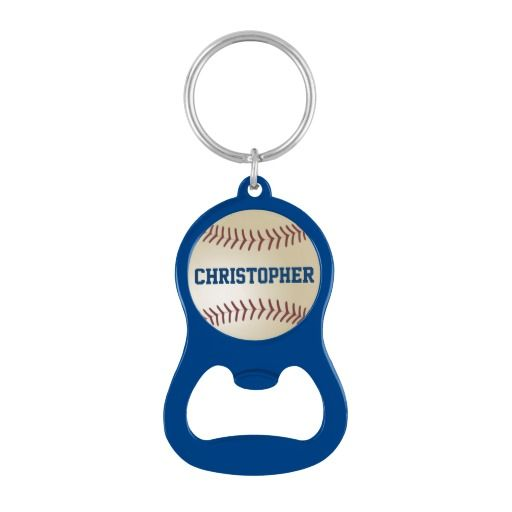 15% OFF thru 3/31/15, Code: ZAZZLELOVE4U . . . Personalized Coach Baseball Bottle Opener Keychain - This personalized bottle opener keychain has an image of a baseball on an aluminum background. Default color is blue; text is blue. It is personalized with 1 or 2 lines of text, up to 11 characters per line. This unique bottle opener is a great birthday gift or party favor or thank you gift for a baseball team coach. All Rights Reserved © 2015 Alan & Marcia Socolik.