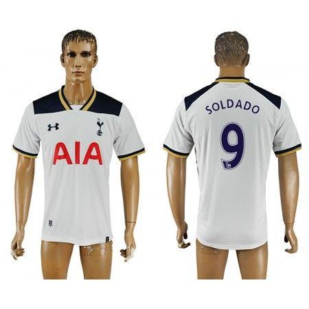 Tottenham Hotspurs 16-17 #Soldado 9 Hjemmebanetrøje Kort ærmer,208,58KR,shirtshopservice@gmail.com