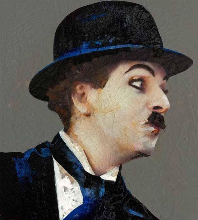 Chaplin (Lita Cabellut)