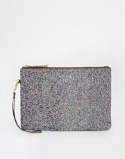 ALDO Glitter Wrislet Clutch Bag