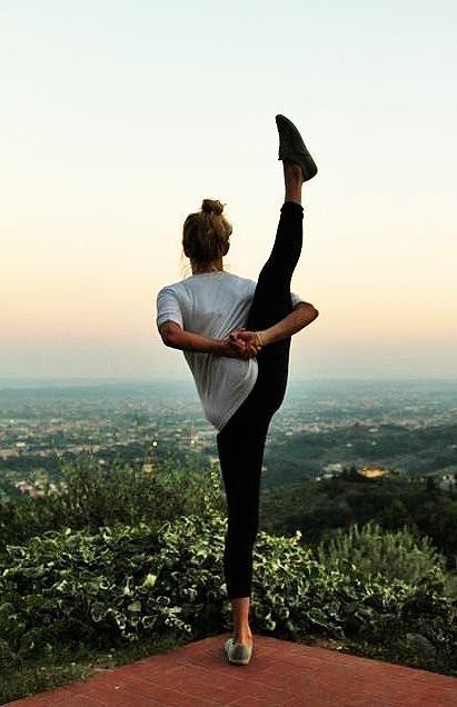 Strength and flexibility goals. #girlzactive #yogacamp
