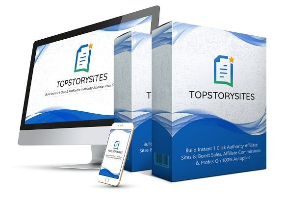 TopStorySites – what is it? TopStorySites is a cloud based app that builds instant 1-click authority affiliate websites like StumbleUpon™, Scoop.it™, Digg™ etc. with top quality content and gets you better ranking, viral traffic from top 7 social media platforms, sales and commissions on autopilot.