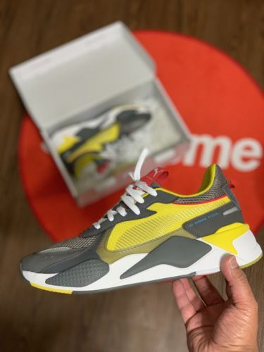 c7b2f17d37f4c2 PUMA RS-X TRANSFORMERS BUMBLEBEE QUIET SHADE CYBER YELLOW 370701 01 Sz: 10.5