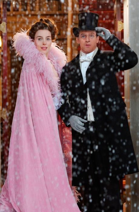 Mr and Mrs Darling in the snow! Olivia Williams in the 2003 film Peter Pan