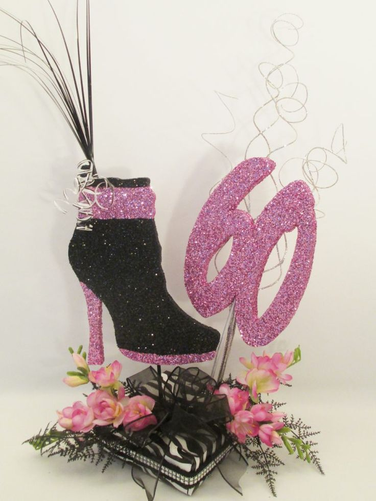Best high heel shoe centerpiece images on pinterest