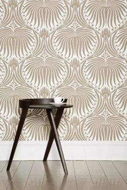 #BP2013 The Lotus Papers are an artisanal lotus-flower design, which is drawn from 19th century French archives and influenced by the Arts & Crafts. Available in 14 colourways. #FarrowandBall #Wallpaper #Paint #HandMade #InteriorDesign #DIY #Interiors #Decor #Lotus #TimelessMaterialCo #Waterloo