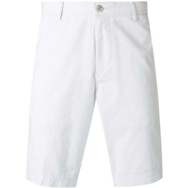 Boss Hugo Boss Crigan Shorts ($170) ❤ liked on Polyvore featuring men's fashion, men's clothing, men's shorts, mens cotton shorts, mens white shorts, off white mens clothing and mens white cotton shorts