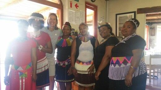 Heritage day... These lovely ladies allowed us to take some pictures with them in their traditional outfits... Rainbow nation!